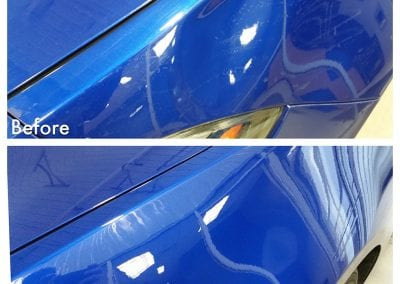 Above Headlight Paintless Dent Repair Fix